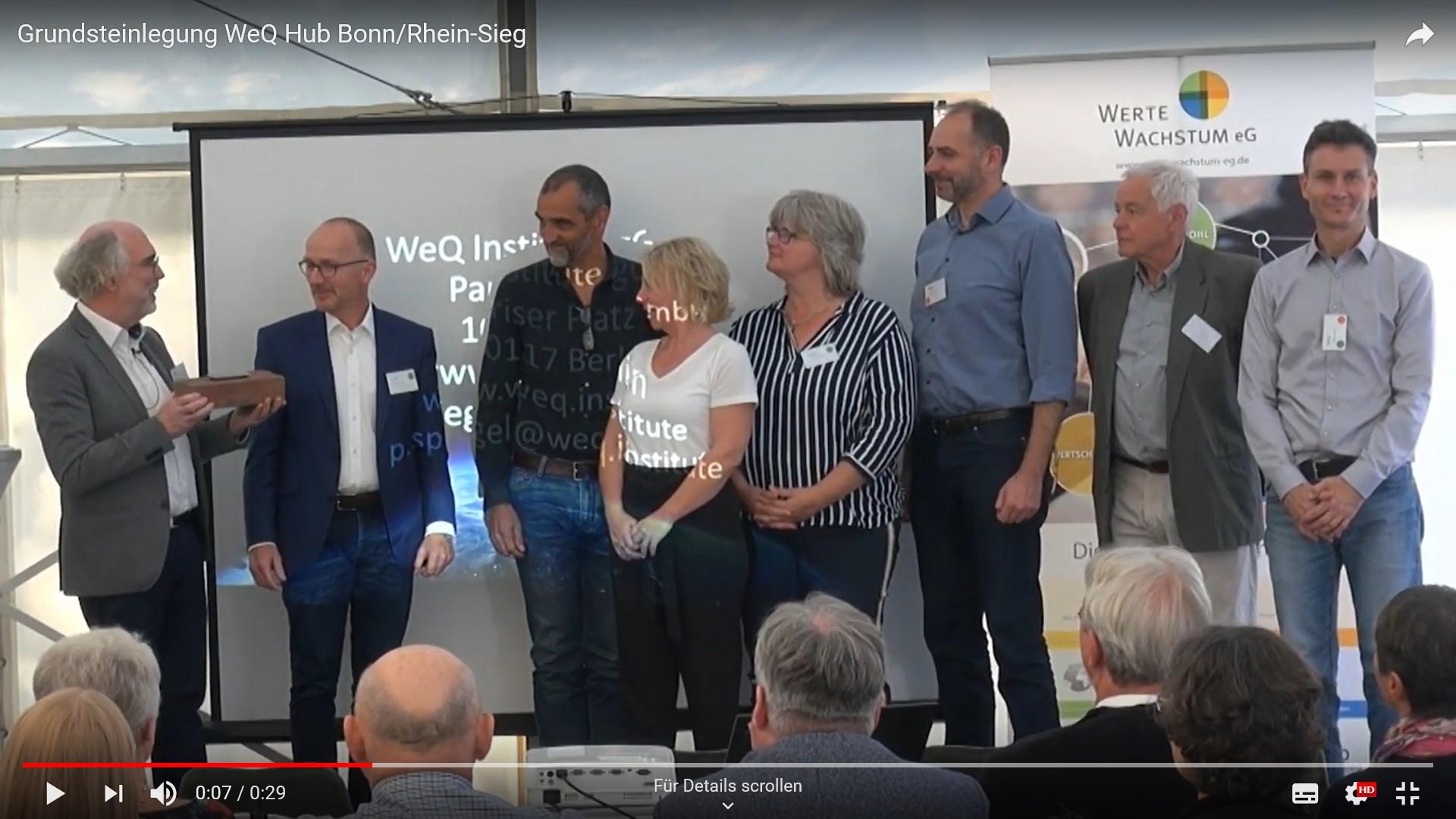 Grundsteinlegung WeQ Hub Bonn/Rhein-Sieg