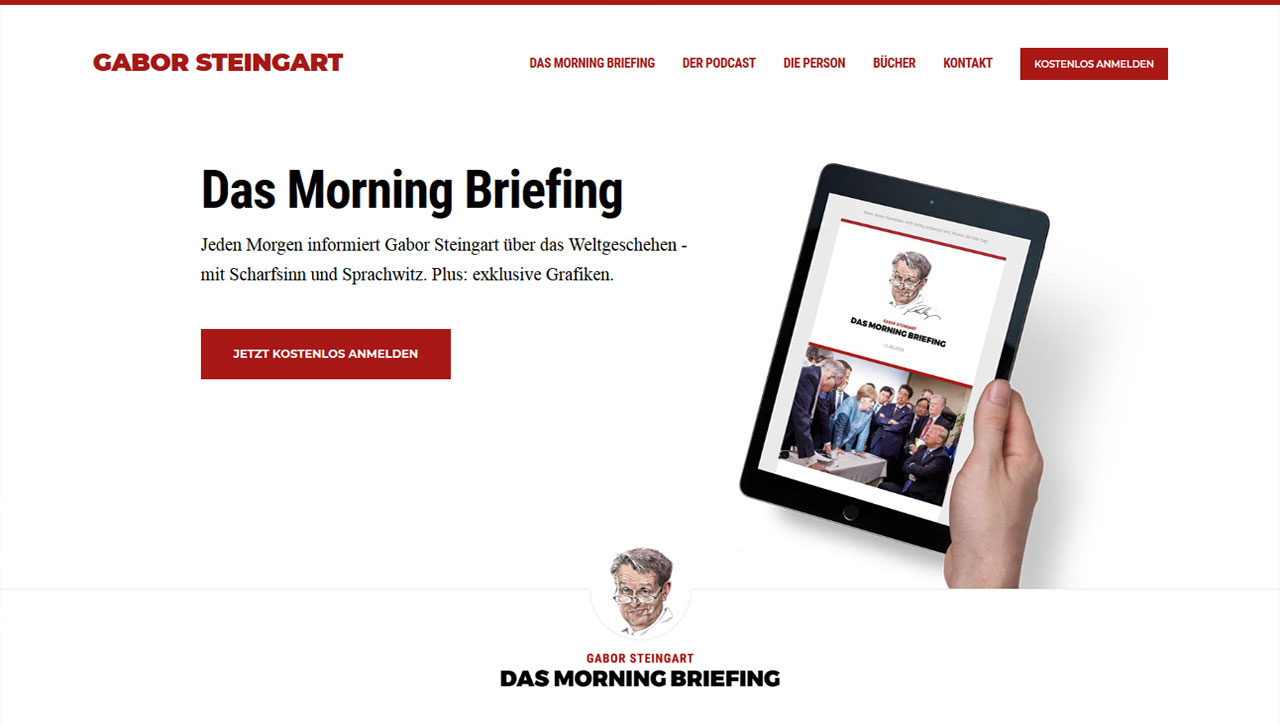 Screenshot der Website von Gabor Steingart